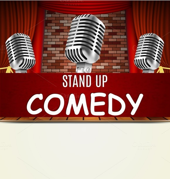 Sungard Exhibition Stand Up Comedy : Comedy club poster template designtube creative design