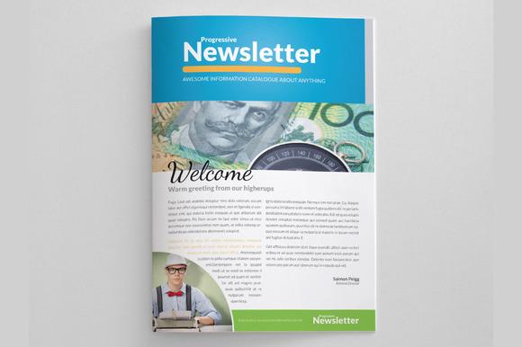 Free tabloid newsletter templates psd designtube for Modern newsletter design