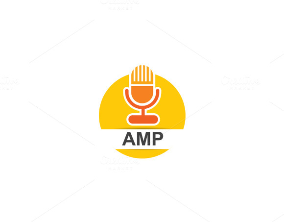 AMP Music Player Logo Template