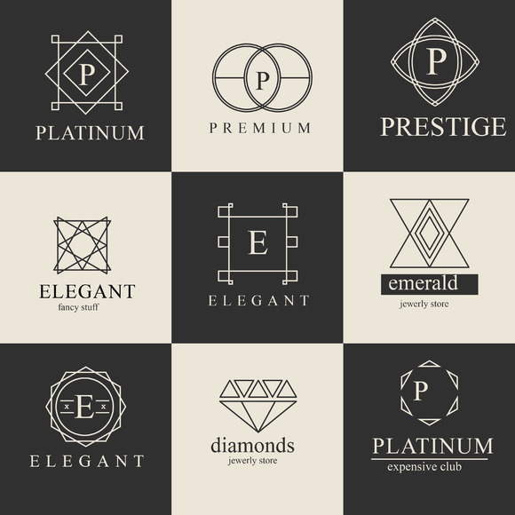 Set Luxury Logos 33 In 1
