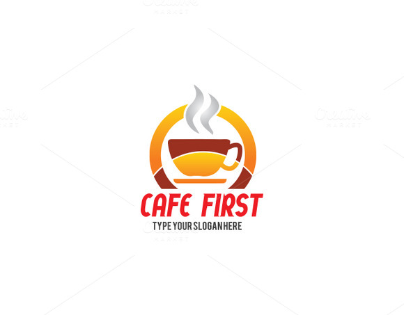 Cafe First Logo Template