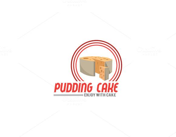 Pudding Cake Logo Template