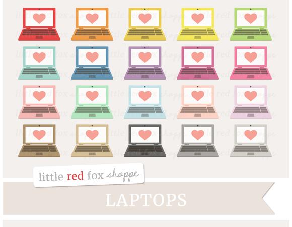 Heart Laptop Clipart