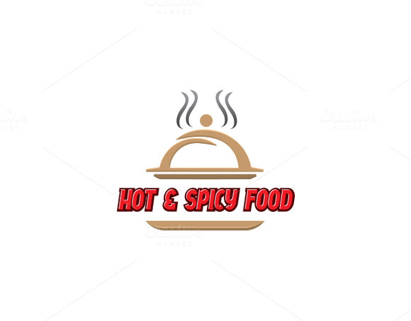 Hot Spicy Food Logo Template