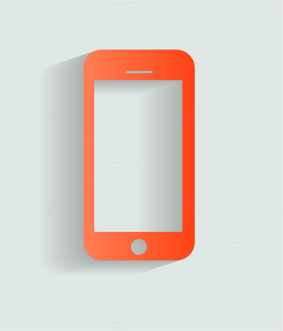 Smartphone Icon Red