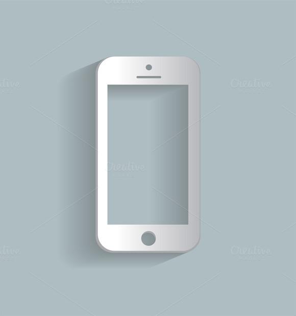 Smartphone Icon White