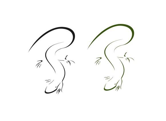 Vector Silhouette Lizard