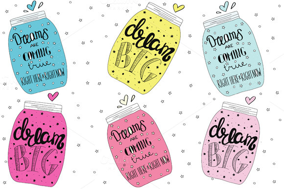 Jars With Dreams Lettering