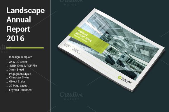 a5 landscape brochure template - indesign landscape report template designtube creative