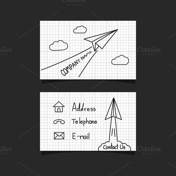 Paper Plane Business Card