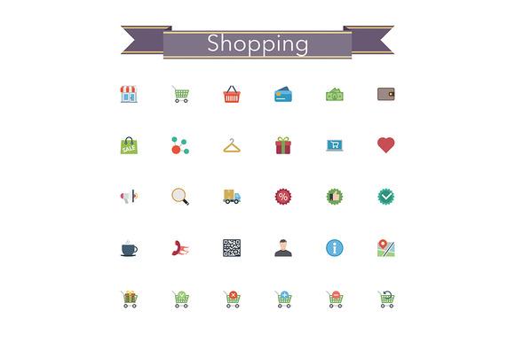 Shopping Flat Icons
