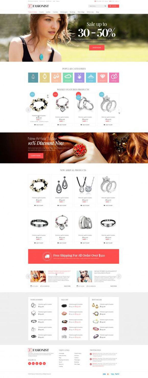 Fashionist Responsive OpenCart Theme