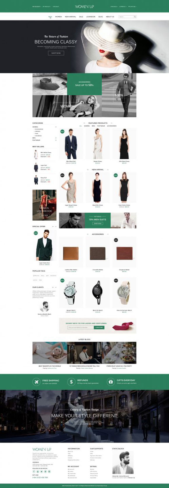 WomenUp Fashion Shopping Theme