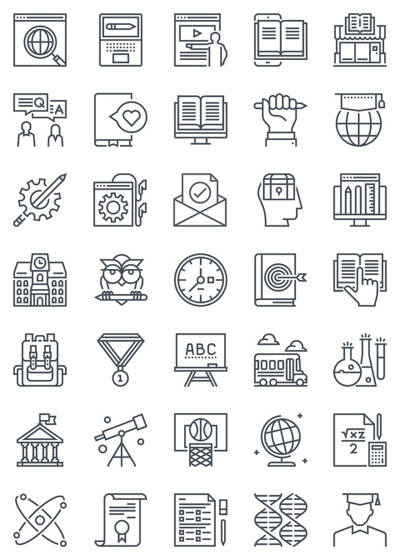 Education Icon Set 35 Icons