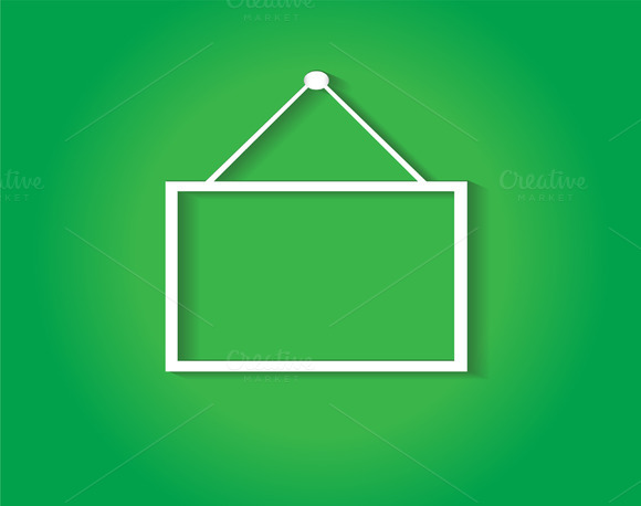 Hanging Sign Green