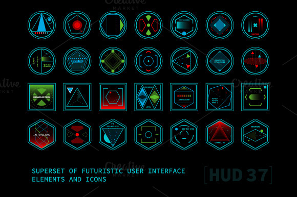 photoshop futuristic interface hud 187 designtube creative