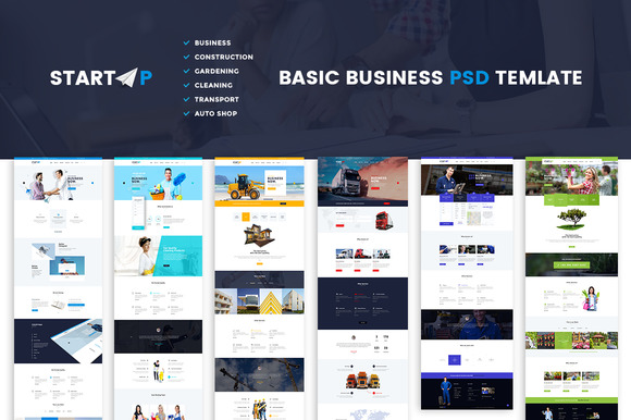 Startup Basic Business PSD Website