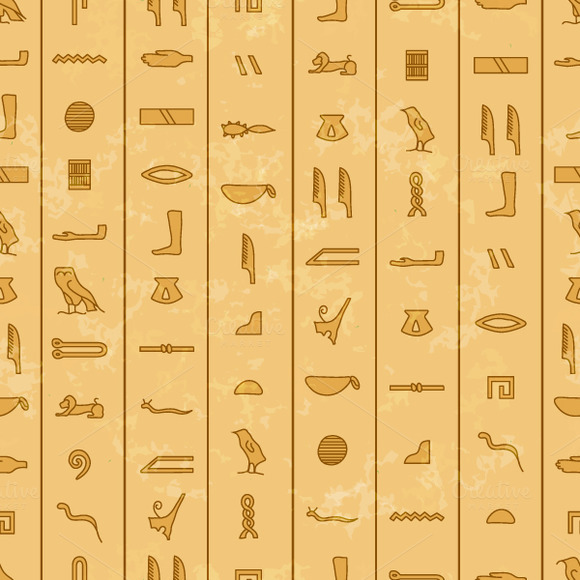 Antique Egyptian Hieroglyphics