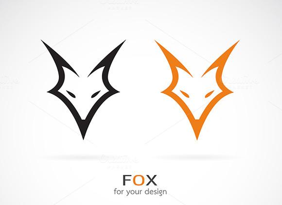 Vector Image Of An Fox Face Design