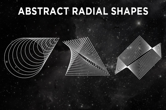Abstract Radial Shapes