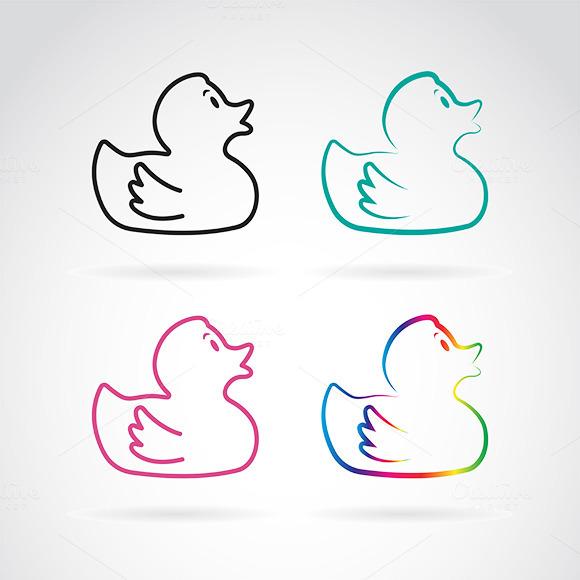 Vector Image Of Duckling Design