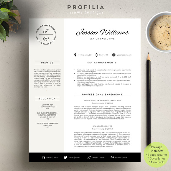 Word Resume Cover Letter Template