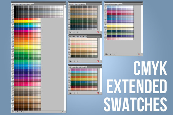 CMYK Extended Swatches-Illustrator