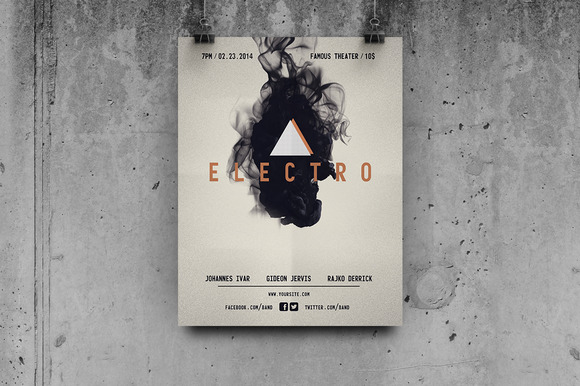 Electro Music Flyer Template