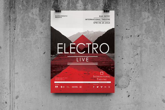 Electro Concert Flyer Poster