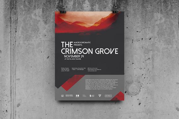 Crimson Concert Flyer Poster