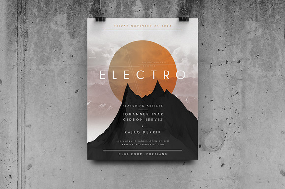 Geometric Concert Flyer Poster