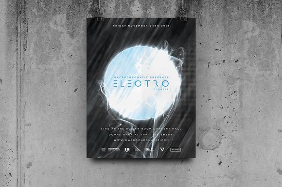 Techno Music Flyer Poster