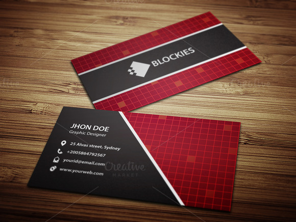 Hi-Tech Business Card Template