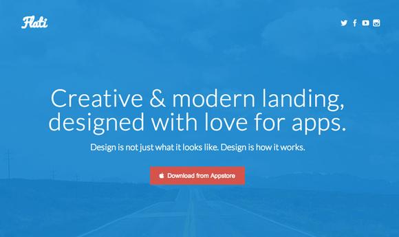 Flati Responsive App Landing
