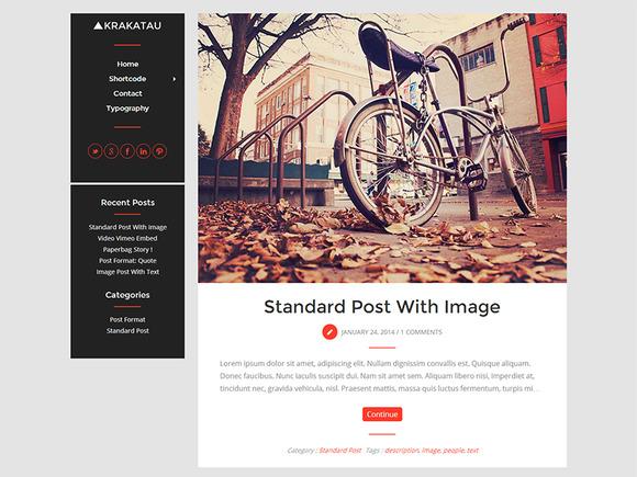 Krakatau Modern Blog Theme