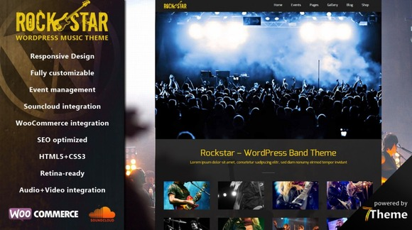 Rockstar Music WordPress Theme