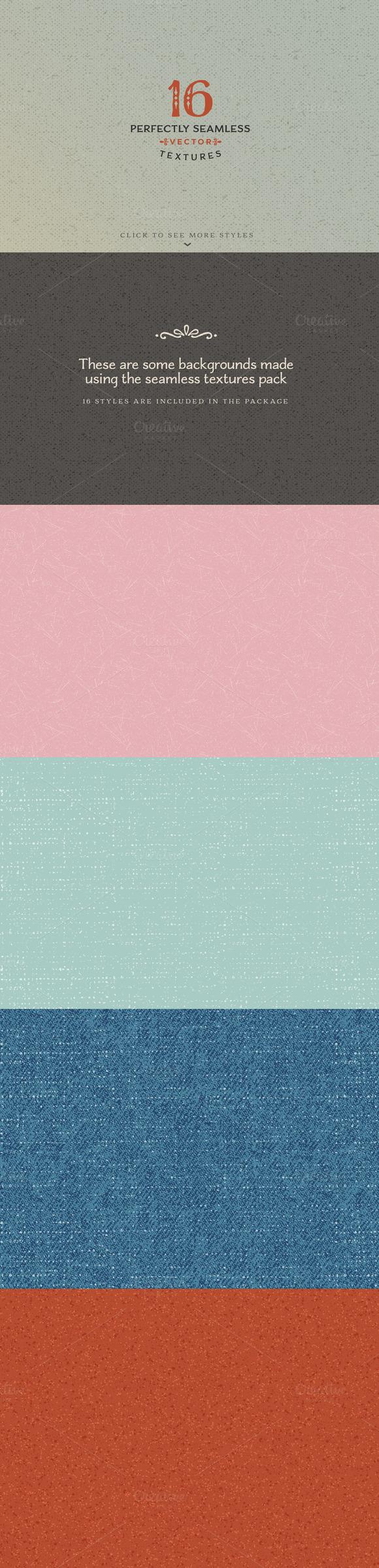 16 Seamless Textures Styles