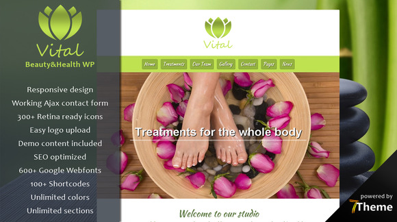 Vital Beauty Spa WordPress Theme