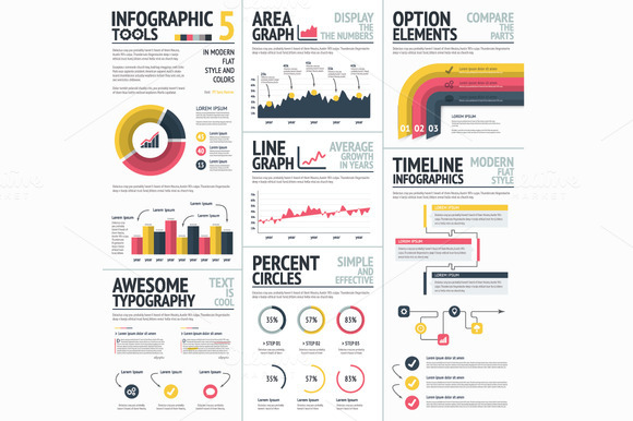 Infographics Tools Elements Vector