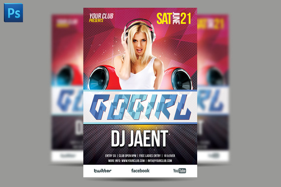 Gogirl Flyer Template