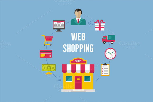 Web Shopping Illustration Concept