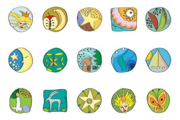 Bibicons 15 Hand Drawn Retro Icons