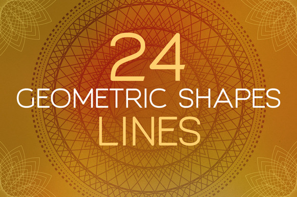 24 Geometric Shapes Lines