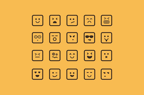 Square Emoticon Vectors