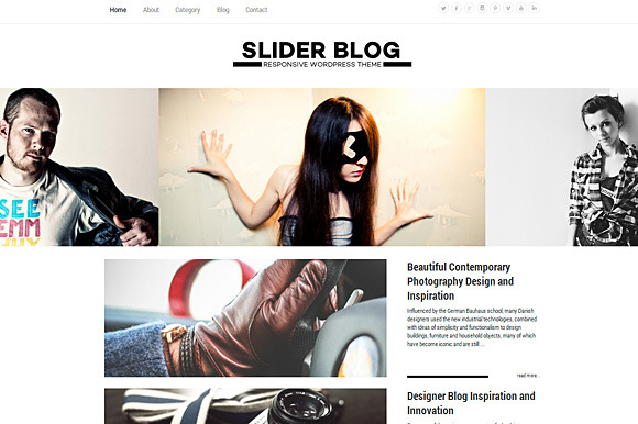 Slider Blog Responsive WordPress