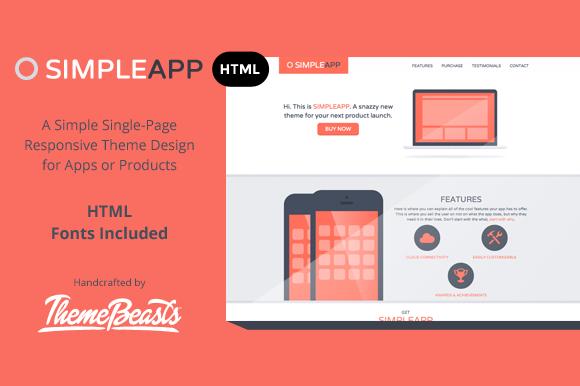 SimpleApp HTML Theme