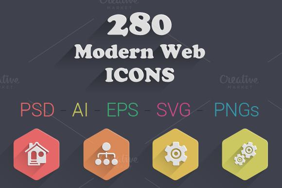 280 Modern Web Icons