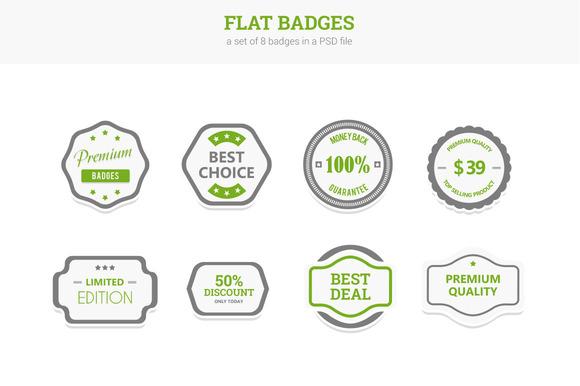 Flat Badges
