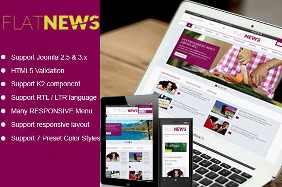 SJ Flat News Template For News Site