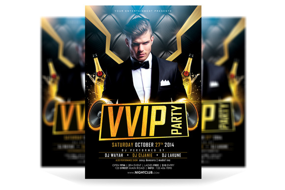 VVIP Party Flyer